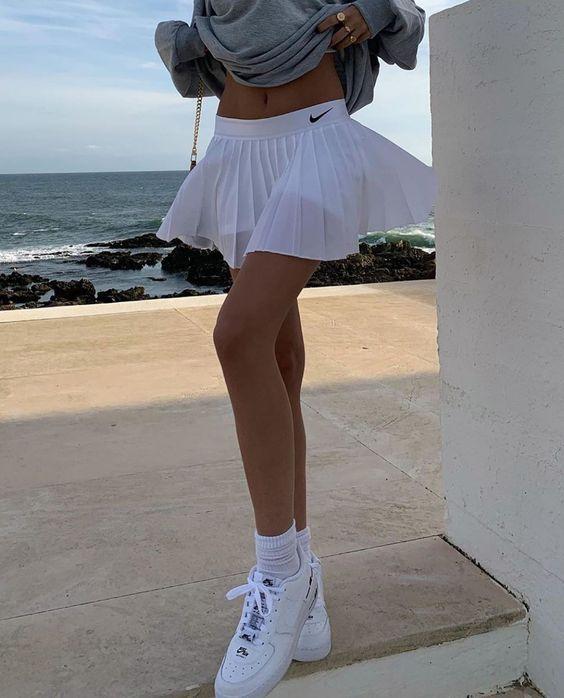 90s Nike Tight Tennis Skirt Reversible Light Blue Dark Blue Etsy Tennis Skirt Reversible Skirt Tights