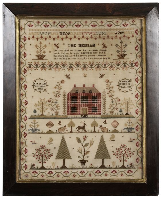 Brunk Auctions - 1832 Schoolgirl Needlework