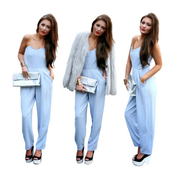 LOVE - Powder Blue Jumpsuit Shop online: www.theendboutique.com ...