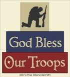 God bless our troops. thestencilsmith.com