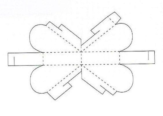 Круглая коробка  шаблон 96
