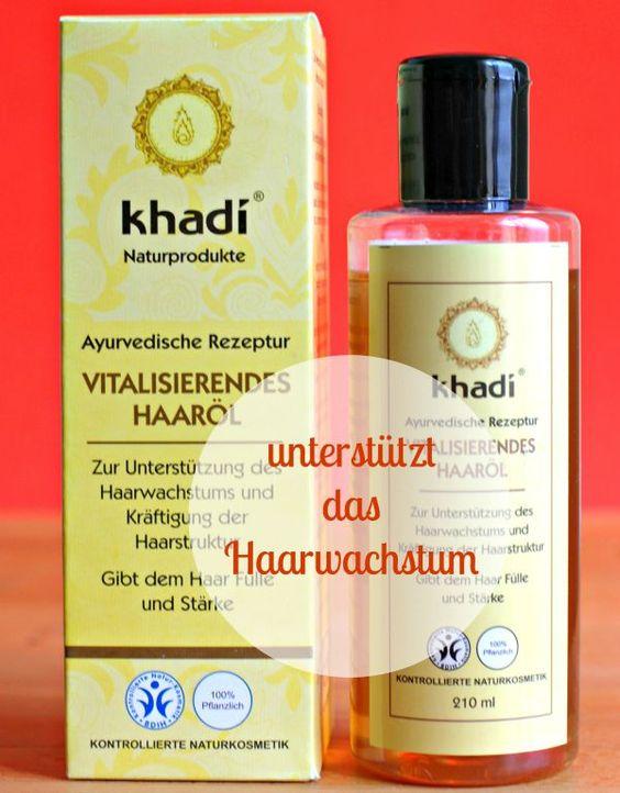 Khadi-Haaröl haare schneller wachen