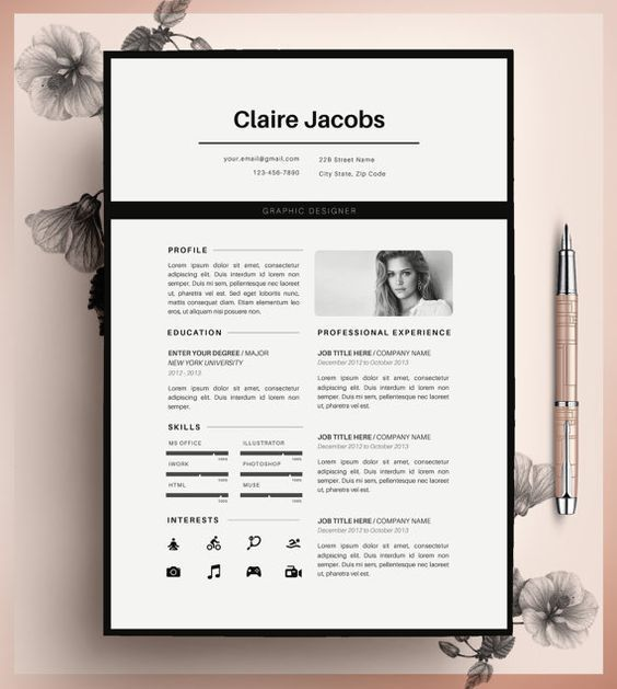 Creative Resume Template Cv Template Instant Download Editable In Ms Word And Pages Cover Letter Size A4 And Us Letter Modele De Cv Creatif Cv Creatif Idee Cv