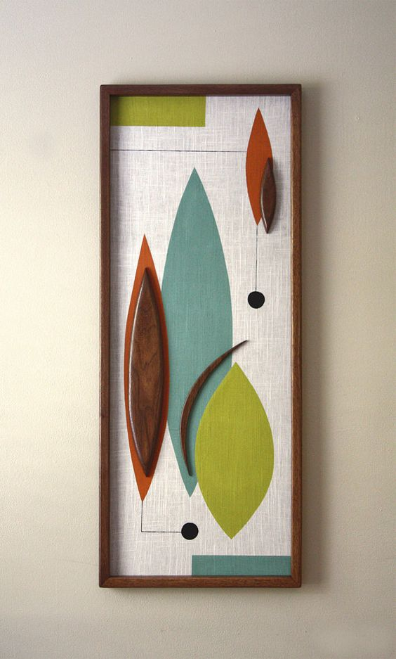 MADE TO ORDER  Simply Elegant! This beautiful piece will complete any room. The classic walnut frame and appliqués make this a truly mid century