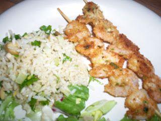 Cupjes en cakejes: Mijn nieuwe uitdaging: garnalenspiesjes met rijstsalade van Bill Granger