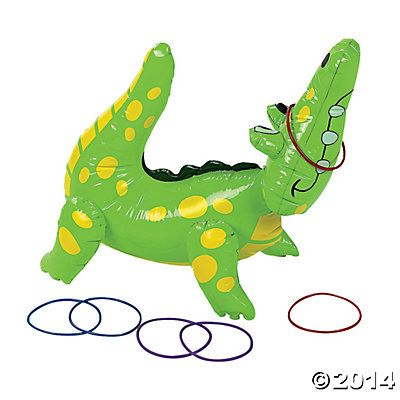 Inflatable Alligator Ring Toss Game - Oriental Trading