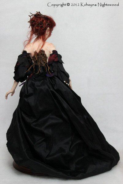 OOAK Nightswood Art Dolls: Dark Wood Troll Maiden ~ Dreawyn