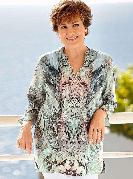 Tuniken sind einfach kleidsam und stehen jeder Frau: http://www.klingel.de/tunika-paola-946822/ #Mode