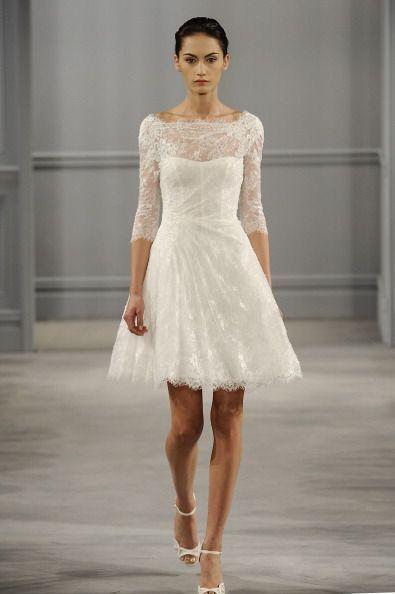 1950s 60s vintage lace short wedding dress 3/4 sleeve size 8 10 12 ...