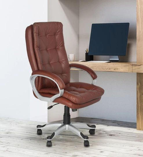 Janus Executive Chair In Brown Colour By High Living In 2020 Office Chair Design Chair Office Furniture Chairs