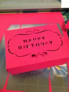 Birthday gift card holder box