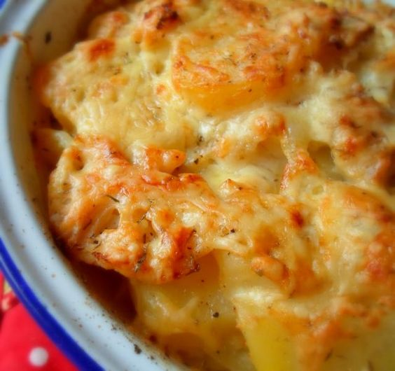 Potato, Cauliflower and Cheddar Bake  http://theenglishkitchen.blogspot.co.uk/2013/03/potato-cauliflower-and-cheddar-bake.html