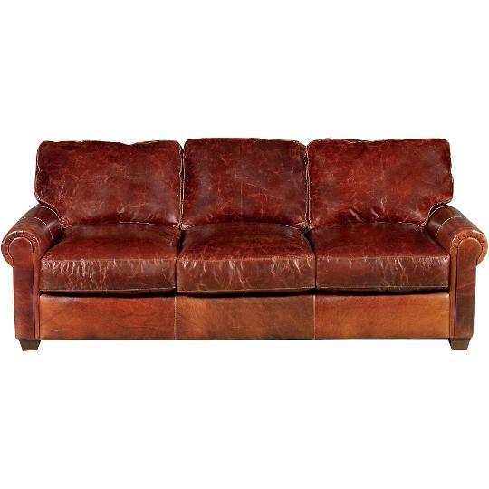 43868002BROMPTONSO 89  Brown Leather Sofa