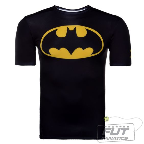 Camisa Compressão Under Armour Batman Black - FutFanatics