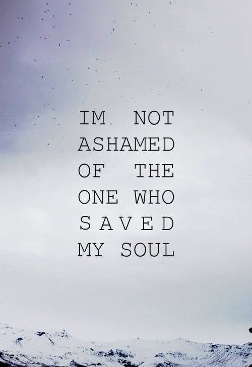 Something to think about. Are we ashamed to say that we believe in Christ--and love Him?