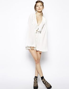 Image 4 ofMinkpink Follow Me Tie Front Playsuit