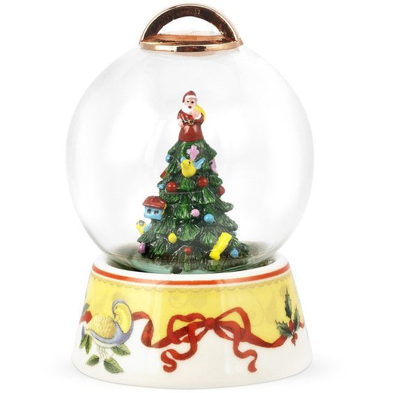 2012 Spode Christmas Tree Annual Snow Globe ($16) ❤ liked on Polyvore