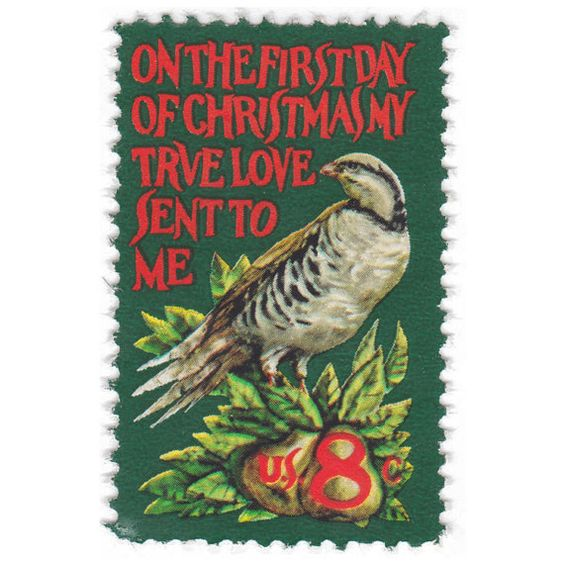 Qty of 10 Unused Vintage Christmas Postage by vintagepostageshop, $3.50
