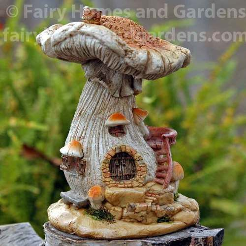 Flowering Vine Mushroom Fairy House Fairy Garden Supplies
