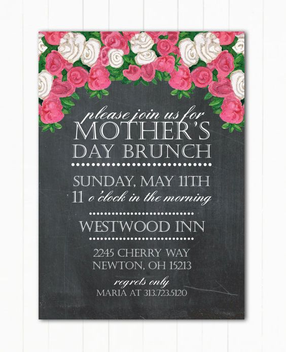 Mother's Day Brunch Or Event Flyer Or By