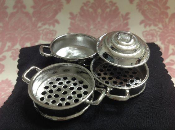 Puppenhaus Miniatur Küche 3 Schichten Metall von Macaminiatureworld