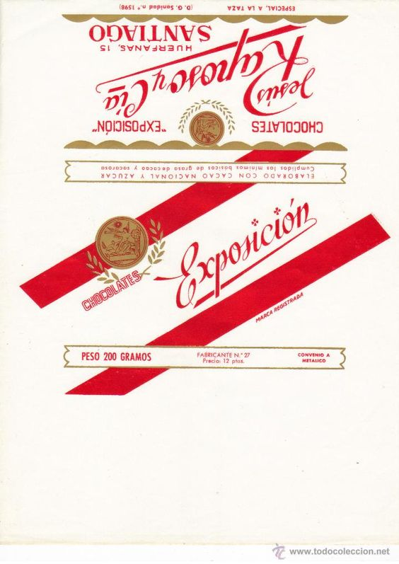 Exposición - Vintage Chocolate label