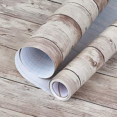 Wood Peel And Stick Paper 17 8in 16 4ft Distressed Wood Wallpaper
