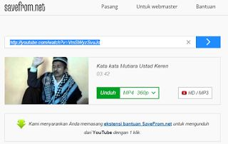 cara mudah mendownload video youtube tanpa software