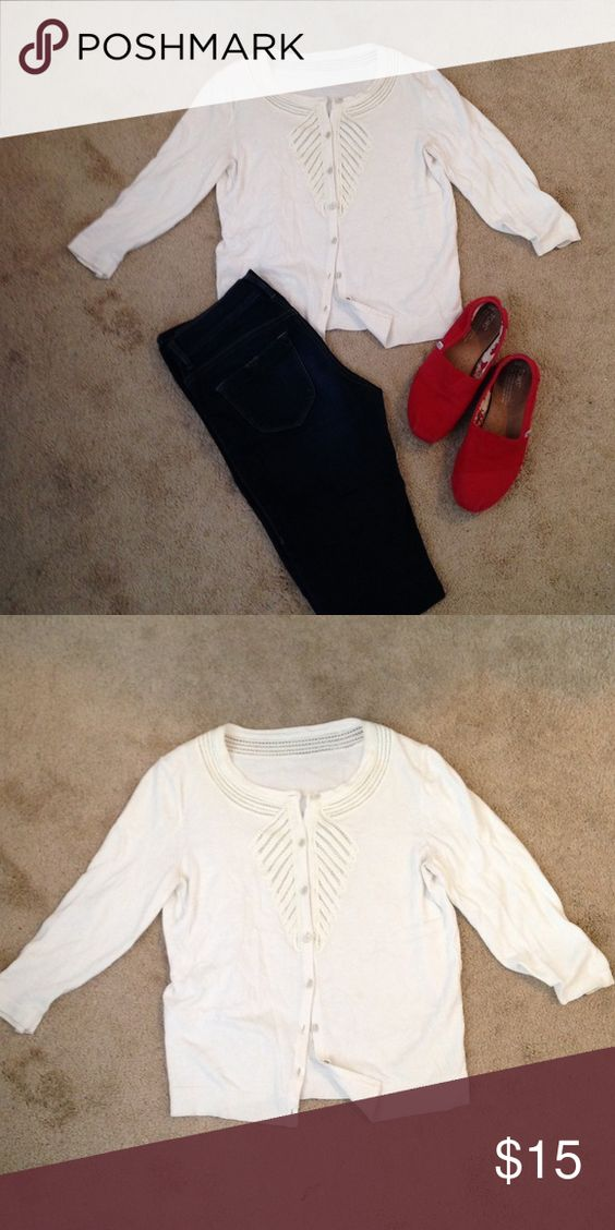 Banana republic white cardigan Looks very new and good condition Banana Republic Sweaters Cardigans