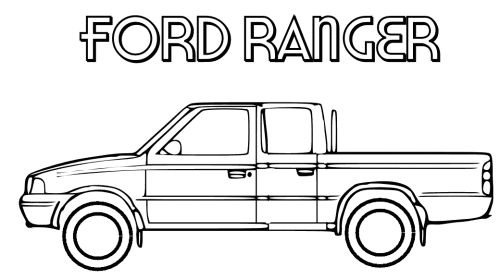 Ford Ranger Truck Coloring Page MKT Pinterest