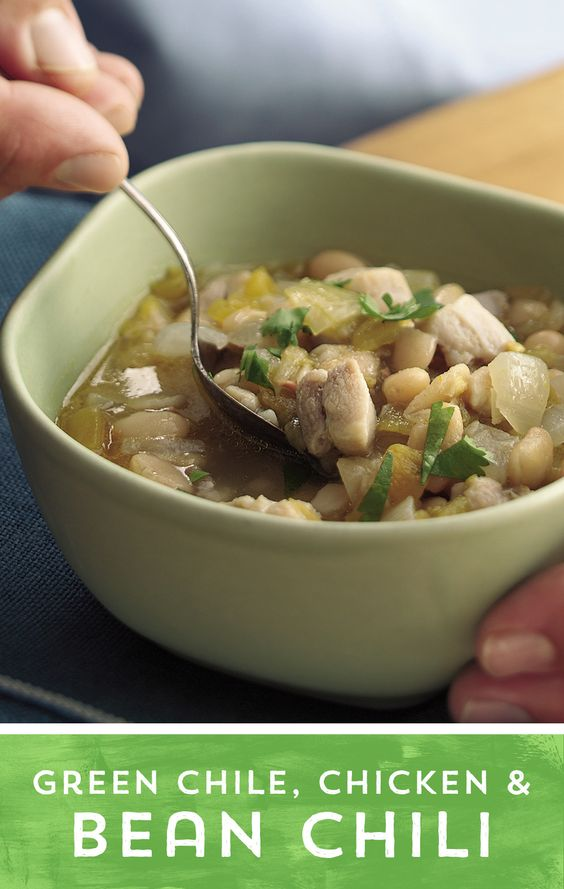Need a dinner idea that the whole family will love? This Green Chile, Chicken and Bean Chili is the perfect solution! Loaded with zippy green chiles, hearty beans and delicious chicken, this Chili is sure to be a hit with your whole family!