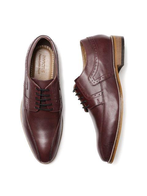 Buy INVICTUS Men Maroon Semiformal Derbys , Formal Shoes for