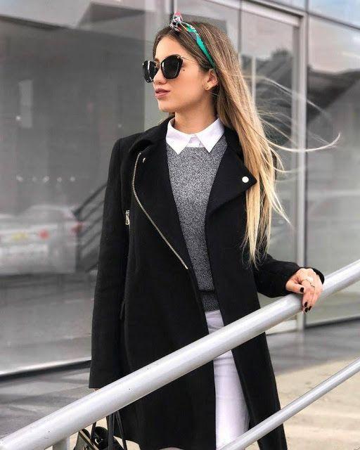 Fashion Work Looks Laborales Clima Frío Ropa De Invierno Mujer Moda Ropa De Trabajo Ropa De Moda