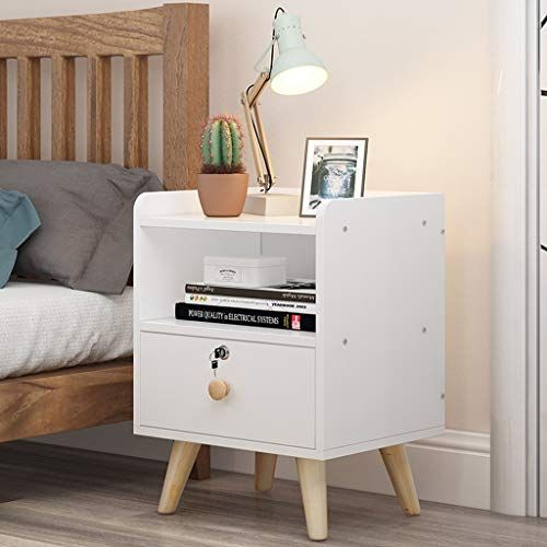 Bjlwtq Bedside Cabinet Storage Side Cabinet Small Assembly With Lock Locker Dormitory Bedroom Simp Simple Bedroom Perfect Bedside Table Design Your Dream House