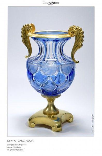 Urne Royale aqua Drape