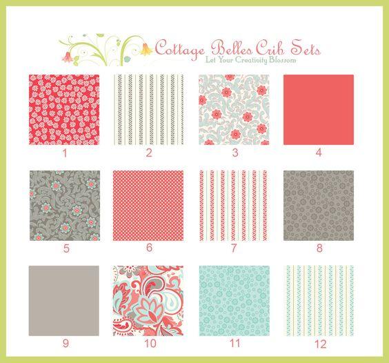Custom Baby Bedding Crib Set - Verona 1 - Design Your Own, You Choose the Fabrics. $365.00, via Etsy.