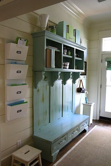 Vintage Mudroom... this would be cute at the lake house downstairs....  @Mary Powers Ham