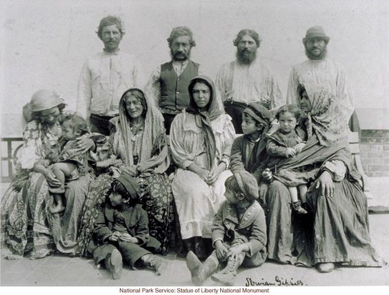 Slovenian Gypsy family at Ellis Island (by Augustus Sherman)  Date:    Circa 1910    Pages:1 of 1  Source:  National Park Service, Statue of Liberty National Monument, Pub Dom, Sher 23.1B-14
