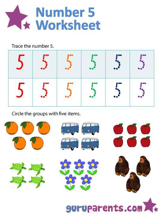 Number 5 Worksheets Numbers Preschool Worksheets Preschool Worksheets Preschool number tracing worksheets 5