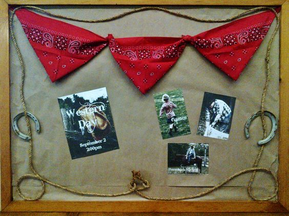 Western Day Bulletin Board at our Church Sept 2013