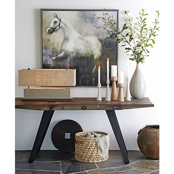 Foyer Table Crate And Barrel : Phoenix quot work table crate and barrel entryway crates