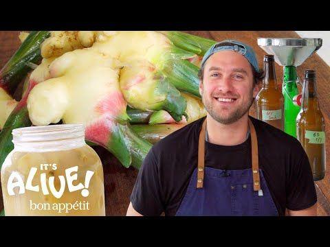 Brad Makes Ginger Beer It S Alive Bon Appetit Youtube Ginger Beer Bon Appetit Youtube Making Ginger Beer