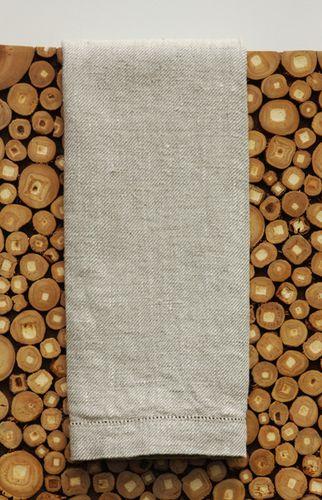 Sebastian Beige Linen Hand Towels Set/3