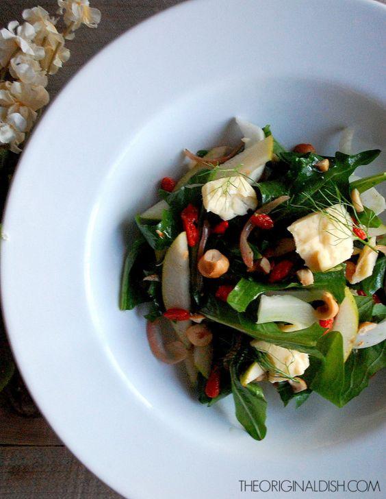 Fennel & Pear Salad with Goji Berry Vinaigrette