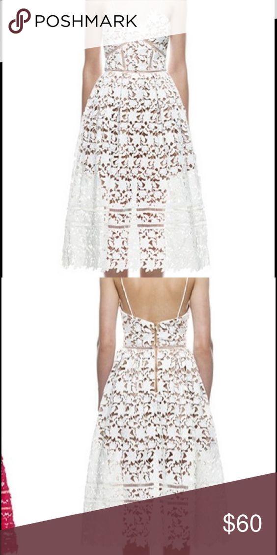 Gorgeous white lace boutique dress Gorgeous white lace boutique dress! Paid over $100 Boutique Dresses Midi