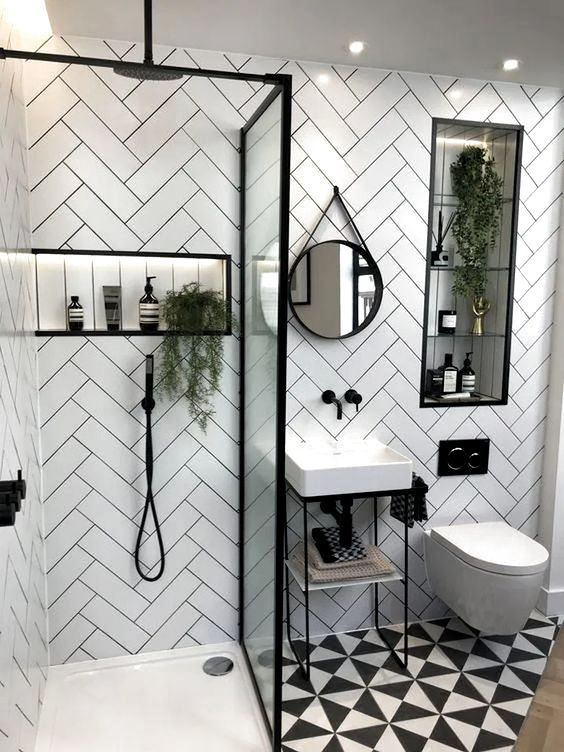 Home Interior GreyModern bathrooms call for sleek, contemporary finishes with a sophisticated edge. No better way to achieve a streamlined bathroom than with metro tilesfrom the floors to the walls and more. Here we share some of our favourite metro tiled bathroom inspirations to help you achieve the look for yourself