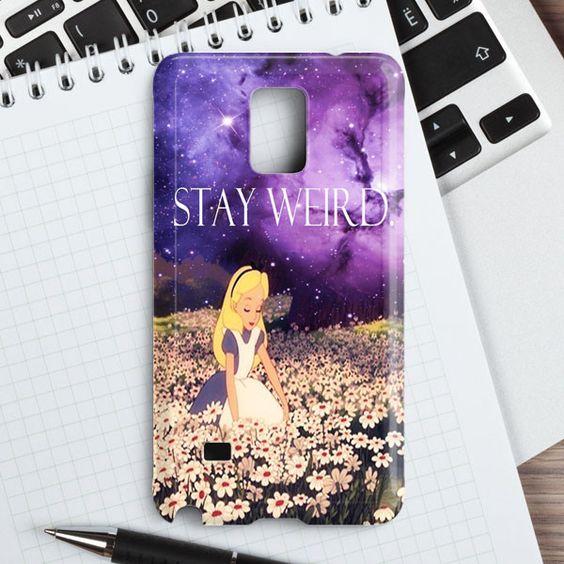 Stay Weird Samsung Galaxy Note 4 Case   casefantasy