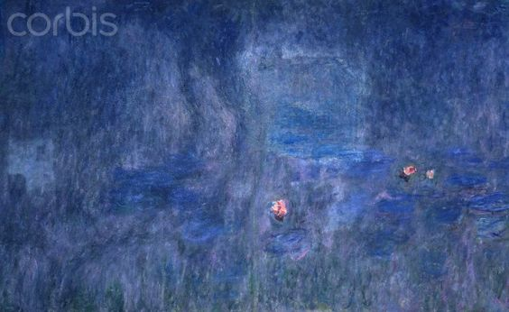 Detail of Waterlilies: Reflections of Trees by Claude Monet