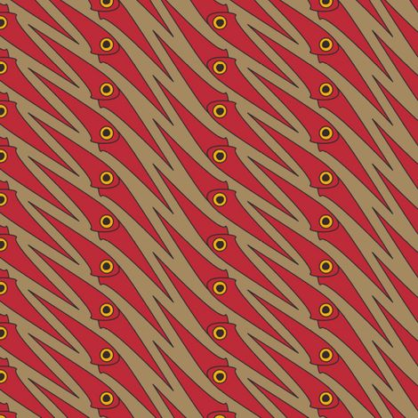 Red Squidoo fabric by david_kent_collections on Spoonflower - custom fabric