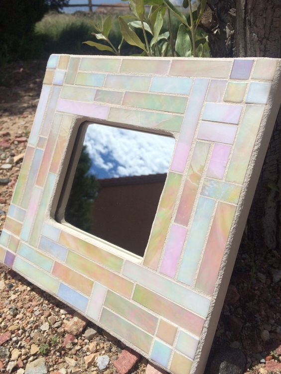 A personal favorite from my Etsy shop https://www.etsy.com/listing/237200935/stained-glass-mosaic-mirror-shades-of